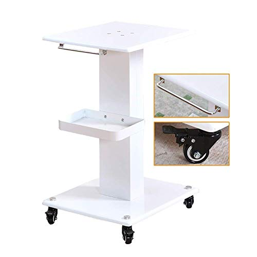 LJWJ Carts,Storage Car Service Car Utility Vehicle Multifunction Portable Trolley Home Trolley White Rolling Cart with Handle, Mobile Beauty Instrument Storage Trolley with Brake Wheel,White,40×46×70