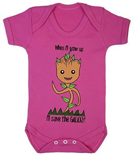 Colour Fashion Déguisement de super-héros Groot I'll Save The Galaxy 100% coton 0-24 - Rose - 24 mois