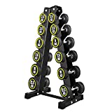 Jeenone 6 Tier Dumbbell Rack Stand, Free Weights A-Frame Holder Storage Racks for Home Gym Exercise Not Include Dumbbells