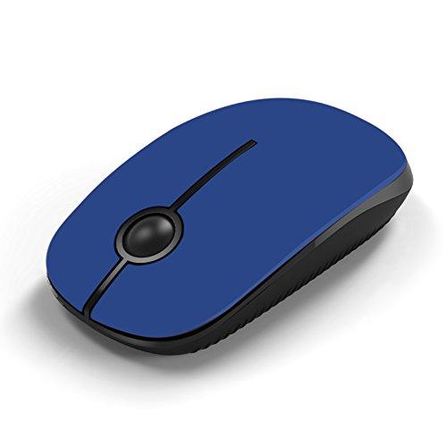 Jelly Comb Ratón Inalámbrico de 2,4 GHz con Receptor Nano para Ordenador Portátil / Tableta, Preciso y Silencioso, Blanco + Plata