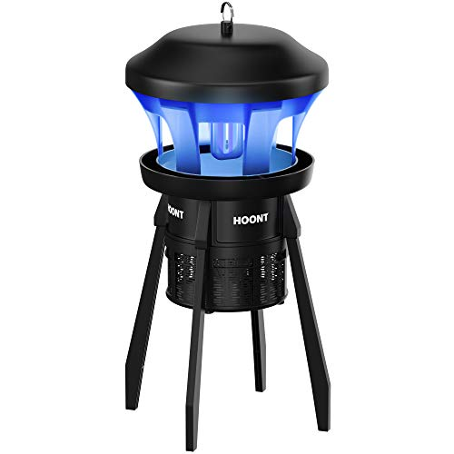 Hoont 35 3-Way Mosquito and Fly, Gnat Trap with Stand - with A Bright UV Light Attractant, and Fan Outdoor and Indoor Bug Killer