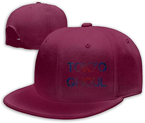 NJAAN Men's Womens Hip Hop Baseball Caps Casual Tokyo Ghoul Logo Adjustable Hat Unisex,Dark Red,One Size