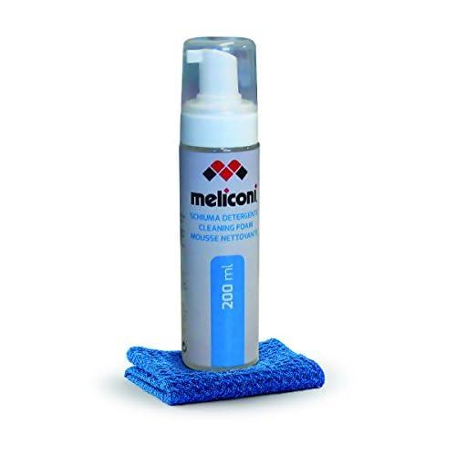 Meliconi C-200 Foam Schiuma Detergente da 200 ml con Panno in Microfibra per Schermo PC, Tablet e Smartphone e TV