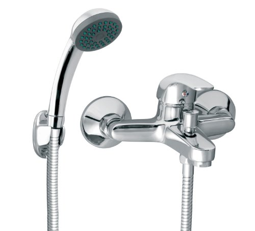 Vasto Armatur für die Badewanne Wannenarmatur mit Handbrause und Schlauch