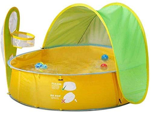ICDOT Los niños Entrenamiento Carpa Padre-Hijo Gamehouse Velocidad automático Abierto Tienda de la Playa Piscina (Color: Amarillo) (Color : Amarillo, Size : -)