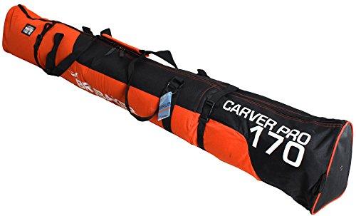 Brubaker Carver Pro 2.0 gepolsterte Skitasche mit Zipperverschluss Orange/Schwarz Weiß 170 cm