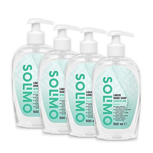 Amazon Brand - Solimo  Hypoallergenic Liquid Hand Soap - Pack of 4 (500ml x 4)
