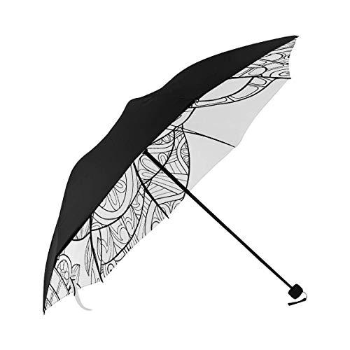 Sun Table Umbrella Adult Malvorlagen Book Style Art Underside Printing Kinder Regenschirme Regen Sonnenschirm Regenschirm Jungen Regenschirm Compact