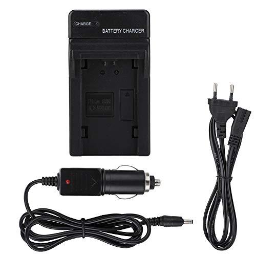 Garsent Cargador de Batería, 100-240 V CA Cargador de batería cámara Universal con Cargador de Coche para cámara Sony.(EU)