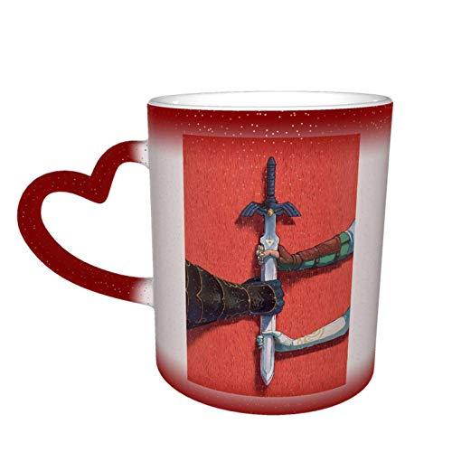 huashan Legen_D von Z_Elda Farbwechselbecher Kaffeetasse Design Keramik wärmeempfindlicher Becher Farbwechselbecher im Himmel Geburtstagsgeschenk
