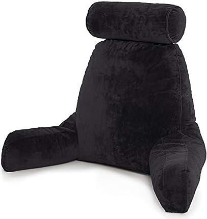Husband Pillow Almohada Esposo-Gran Soporte de Cama para Descansar y Leer Cómodo – Black