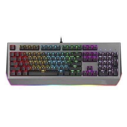 KUYUC internationaal mechanisch toetsenbord, RGB achtergrondverlichting, spatwaterdicht, voor gamen, zwart
