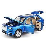 ZY 1:24 Rolls Royce Modelo de Coche de luz y Sonido de Retorno de Coches de Juguete SUV Modelo de Juguete Infantil de simulación de Coches, Azules LOLDF1 (Color : Blue)