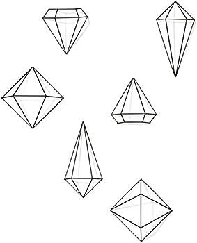 Set of 6 Umbra Prisma Geometric Sculptures