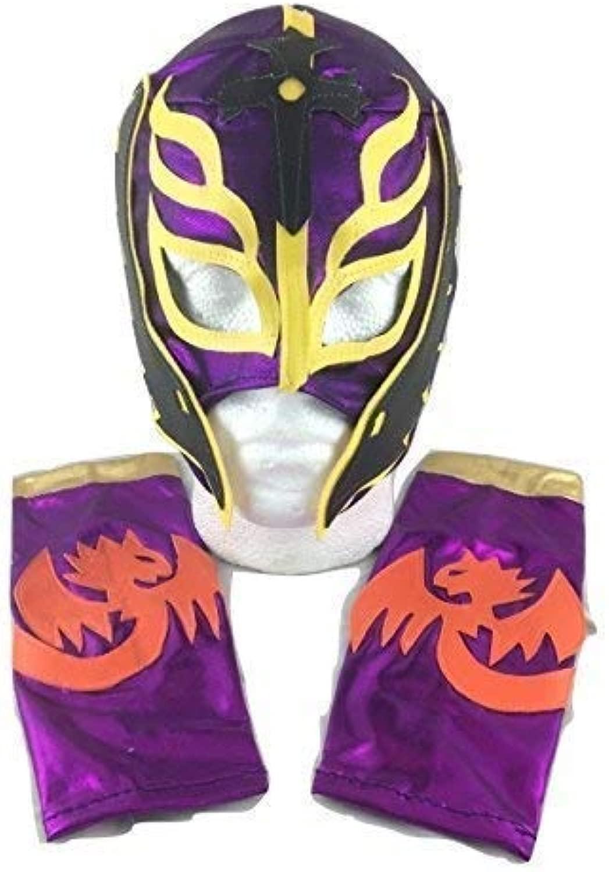 UK Htuttioween autonevale Cosplay Bambini Viola Son Of Demonio Rey Mysterio Wrestling Cosplay per Tutta la Testa Maschera di Htuttioween - Taglia Universale Wwe Costume Travestimento Vestito