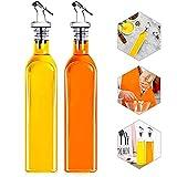 Botella de Aceite, Dispensador de Aceite Cocina, Botella de Aceite de Vidrio,...