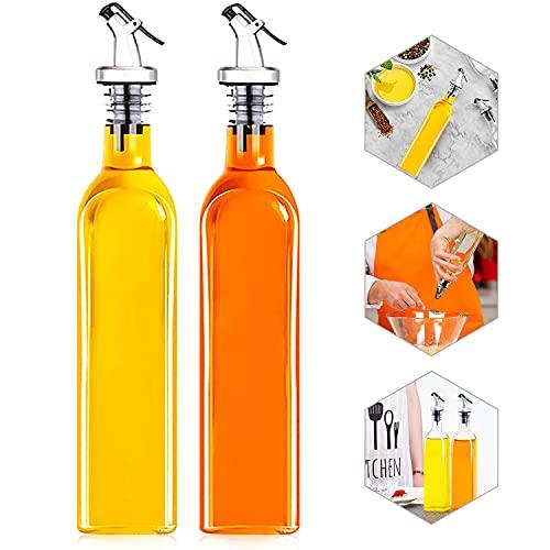 Botella de Aceite, Dispensador de Aceite Cocina, Botella de Aceite de Vidrio, Dispensadores de...