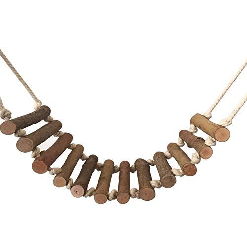 Escalera de cuerda de juguete Loros columpios de madera Loros Cacatúas grises africanos Juguetes accesorios de plataforma para periquitos pinzones grises africanos periquitos cacatúas plataforma