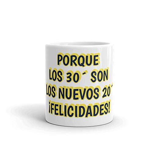 Taza CUMPLEAÑOS | Taza 350 ml | Taza FELICES 30 | Taza desayuno | Taza de regalo | Taza graciosa