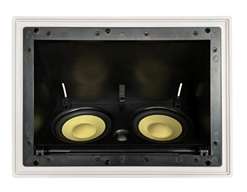 """YK5252AC Silver Ticket in-Ceiling Speaker with Pivoting Full Speaker Adjustable Angle Woofers and a 1"""" Tweeter (Dual 5.25 Inch in-Ceiling Center Channel)"""