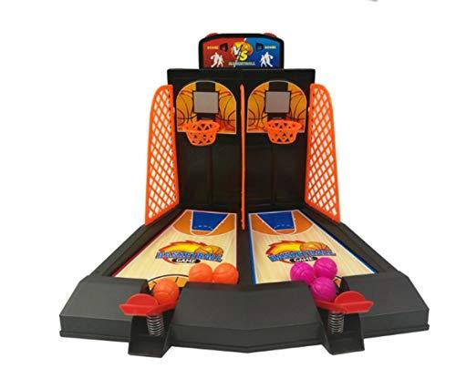 TAIZ Basketball-Tischspiel, lustiges Tabletop-Spiel for EIN oder Zwei Spieler, ab 3 Jahren, 26.5 × 22.5 × 22CM, batterielos