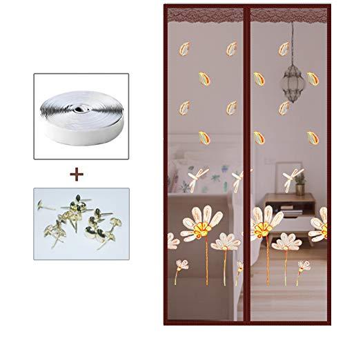 Magische Aufkleber Hasp Fliegengitter Tür Insektenschutz Magnet Fliegenvorhang, Aktualisiert Heavy-duty Insektenschutz Haustier Und Kinderfreundlich Windproof Mesh-j 120x220cm(47x87inch)
