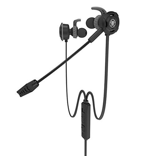 Écouteurs de jeu PS4 Plextone G30 dans le bruit d'oreille Écouteurs Écouteurs Casque stéréo Casque avec Micro Détachable Microphone pour iPhone Android Phone PC Mac Nouvelle Xbox One, Noir