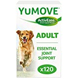 Dog Joint Supplement Chewable Tablets Glucosamine HCI, Hyaluronic Acid, and Green Lipped Mussel and Omegas, Natural Relief from Dog Hip Ache, Dog Joint Soreness and Stiff Joints, by YuMOVE - 120 Count