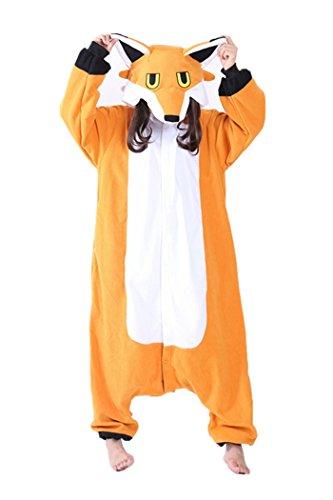 wotogold Pigiama di Volpe Animale Costumi Cosplay per Adulti Unisex Orange