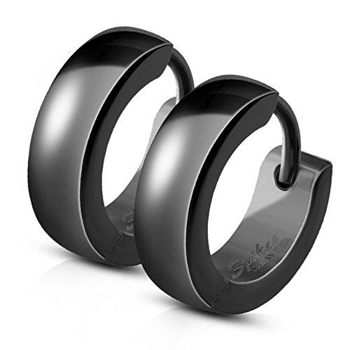 Bungsa Orecchini ad anello 4mm Argento Acciaio inossidabile Unisex