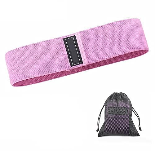 QASUF 1/3 Fitness Widerstand Band Yoga Übung Stoff Gürtel Hüfte Übungsgurt Geeignet für Hüften, Beine, Oberschenkel und Hüften rutschfeste Squat Gürtel (Color : Pink-90LBS)