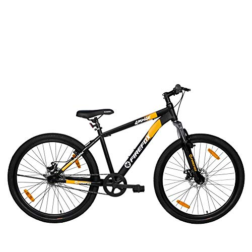 Firefox Bikes Grunge-D , 27.5T Mountain Cycle (Black/Orange) I Disc Brake I Ideal For : Adults (Above 13 years) I Frame size: 17'...