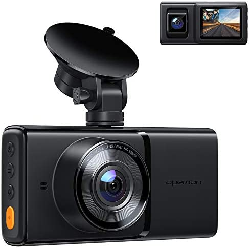 APEMAN Dual Dash Cam for Car with GPS Full HD 1080P Front and Interior Dash Camera with IR Night product image