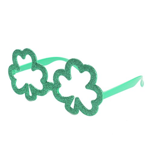 F Fityle Novedad Verde Shamrock Gafas De Sol De Cristal St Patricks...