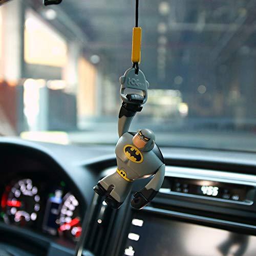 Hzdmfgs Décoration de Voiture Décoration de Voiture Pendentif Voiture Rearview Mirror Pendentif Auto Décoration Accessoires Intérieur Voiture (Color Name : Batman)