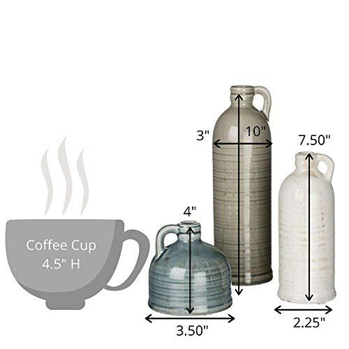 Sullivans Small Ceramic Jug Set, Farmhouse Home Decor, Set of 3 Vases, Multi-Color (CM2431)