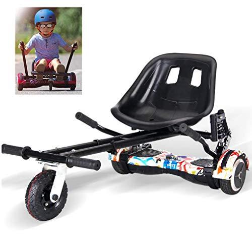 RONGJJ Hoverboard, Hoverboard Seat Kart Autoequilibrado Asiento Cómodo Hoverboard para Adultos, Niños, Modelo Más Seguro con Classic 6.5 Pulgadas
