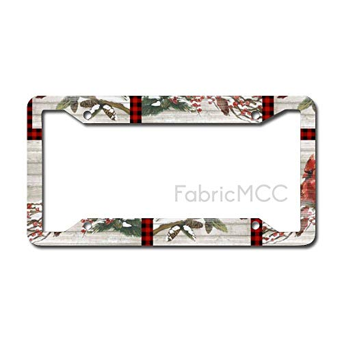 Dom576son License Plate Frame Cardinal Patch Multi Metal Tag Border US Size 12×6 Inches Auto License Plate Holder