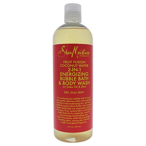 SHEA MOISTURE Fruit Fusion Coconut Water Energizing Bubble Bath & Body Wash