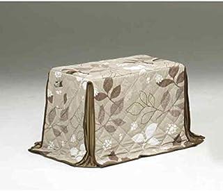 ハイタイプ/ダイニングこたつ布団 小型長方形90×60巾コタツ用 総植物柄90×60 高脚用薄掛け布団
