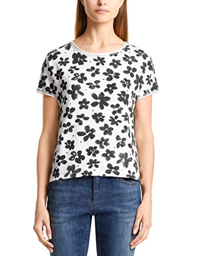 Marc Cain Additions T-Shirt, Multicolore (off-White 110), 46 (Taglia Produttore: 4) Donna