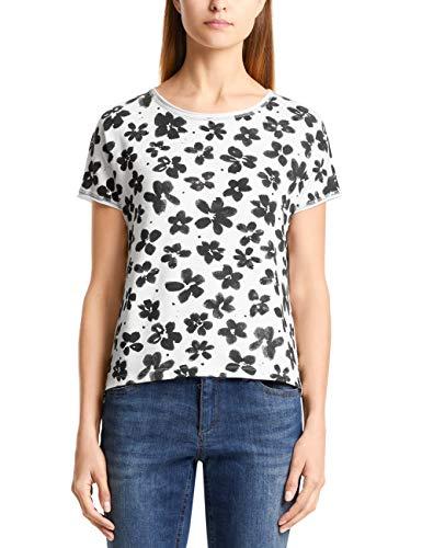 Marc Cain Additions Damen LA 48.10 J62 T-Shirt, Mehrfarbig (Off-White 110), 40 (Herstellergröße: 4)
