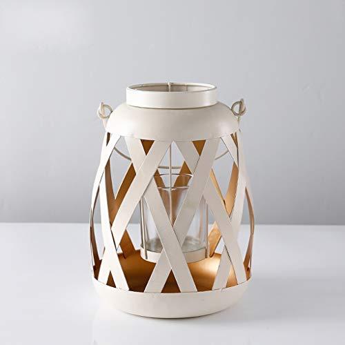 XiuHUa Kandelaar Simple White Kandelaar Moderne romantische woonkamer eettafel glazen lamp tafeldecoratie, twee stijlen Optionele kandelaar