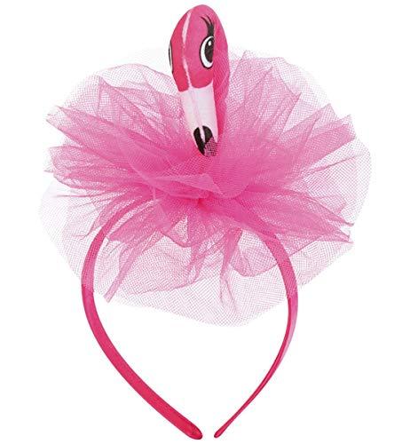Unbekannt Haarreif Flamingo pffifige Kopfgedeckung Karneval Fasching Mottoparty Junggesellinnenabschied Party Accessoire