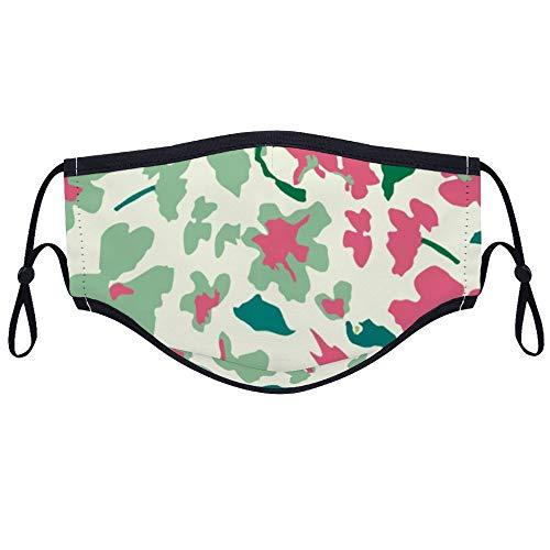 Dkisee modische bequeme Gesichtsmaske, grünes Geschenkpapier, Anti-Staub-Mundmaske mit zwei Filtern wiederverwendbare Outdoor-Schutzmaske für Erwachsene und Jugendliche