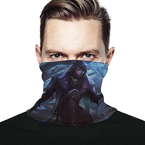 Best-design LOL Aphelios - Calentador de cuello de microfibra para hombre y mujer, cubierta elástica para la cara de media máscara de tubo bufanda de versatilidad, bandana para la cabeza