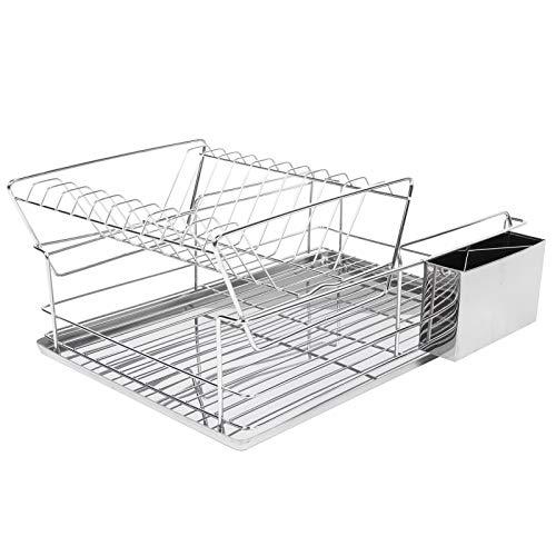 Asixxsix Rejilla para Platos de Cocina, Juego de Rejilla para Platos y escurridor Resistente a la oxidación y Duradero, para la Cocina Accesorios para lavavajillas Almacenar Platos de Cocina