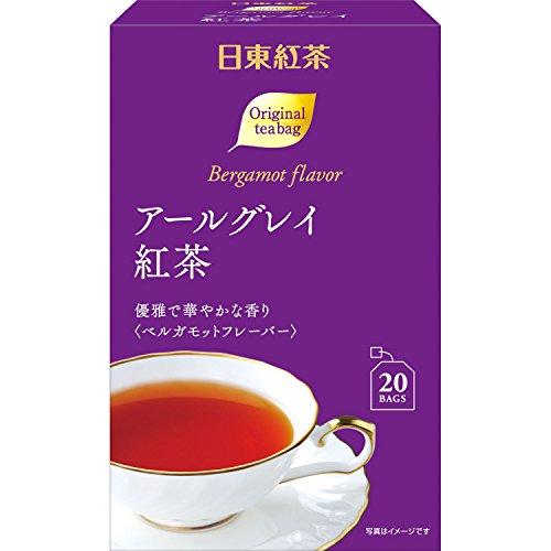 日東紅茶 アールグレイ紅茶ティーバッグ 20P×6個
