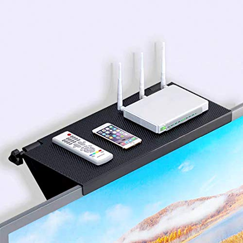 Estante superior de TV, estante superior para pantalla de ordenador, soporte de pantalla ajustable, estante superior para pantalla para...