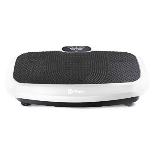 LifePro Turbo 3D Vibration Plate Exercise Machine - Dual Motor Oscillation, Pulsation + 3D Motion Vibration Platform | Full Whole Body Vibration Machine for Home Fitness & Weight Loss. (White)